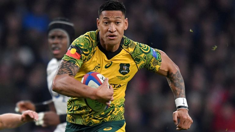 Israel Folau contracted has been cancelled