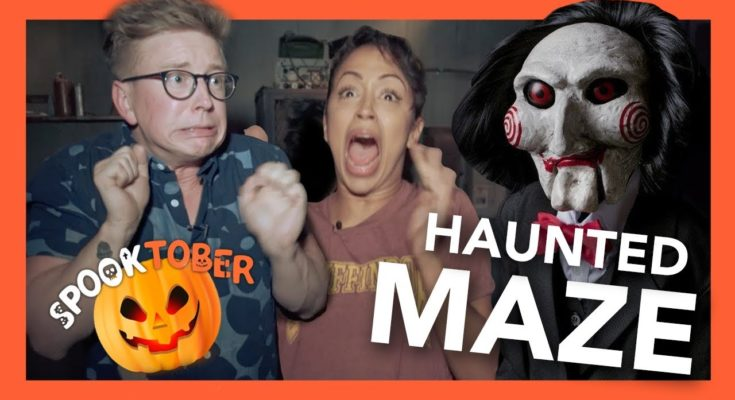 Gay Sharing Haunted Maze with Liza Koshy