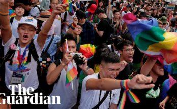 Gay Sharing Celebrations as Taiwan becomes first in Asia to legalise same-sex marriage