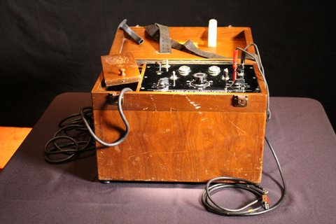 An electroshock machine used in conversion therapy.