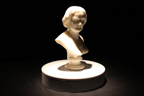A bust statue of 19th-century lesbian actress Charlotte Cushman created by her partner Emma Stebbins.
