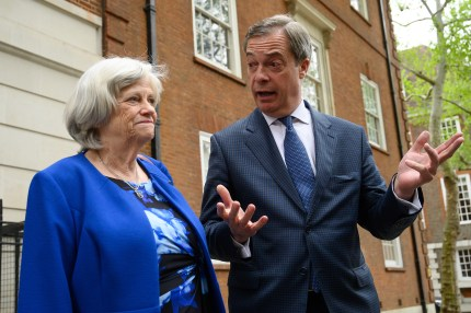 Ann Widdecombe and Nigel Farage