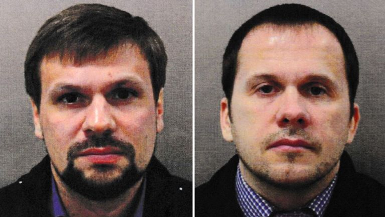 Mr Boshirov (left) and Mr Petrov were named as suspects by the UK