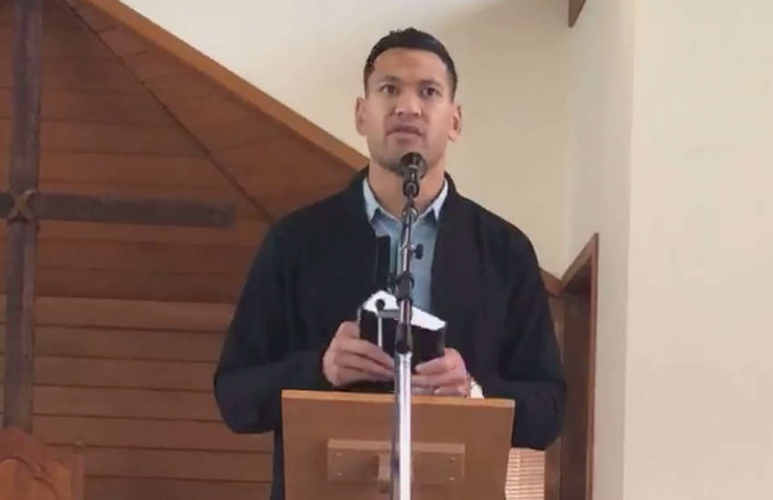 Israel Folau's church labeled 'isolated hate group'