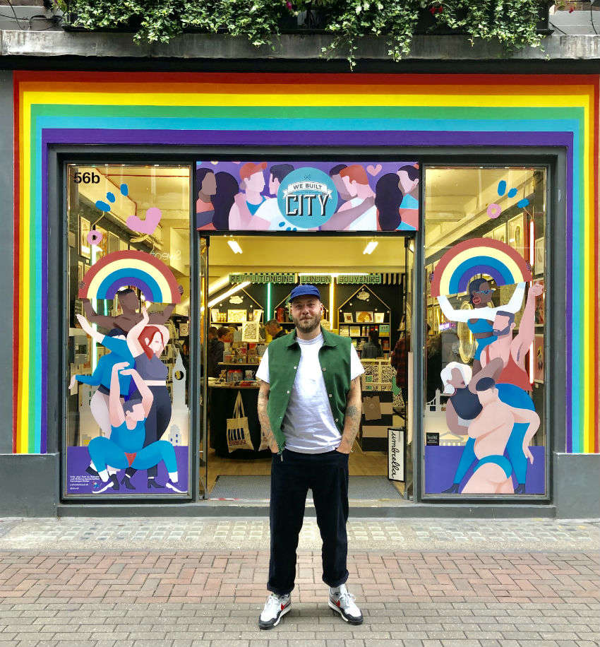 We Built This City hosts a queer pop-up on Carnaby Street, Soho