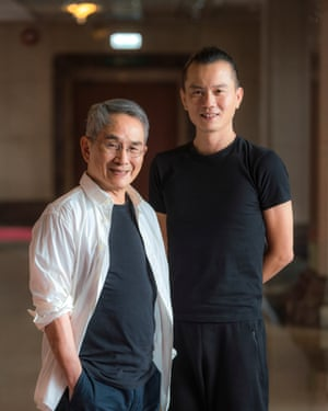 Mentor … Lin Hwai-min, left, with Cheng Tsung-lung.