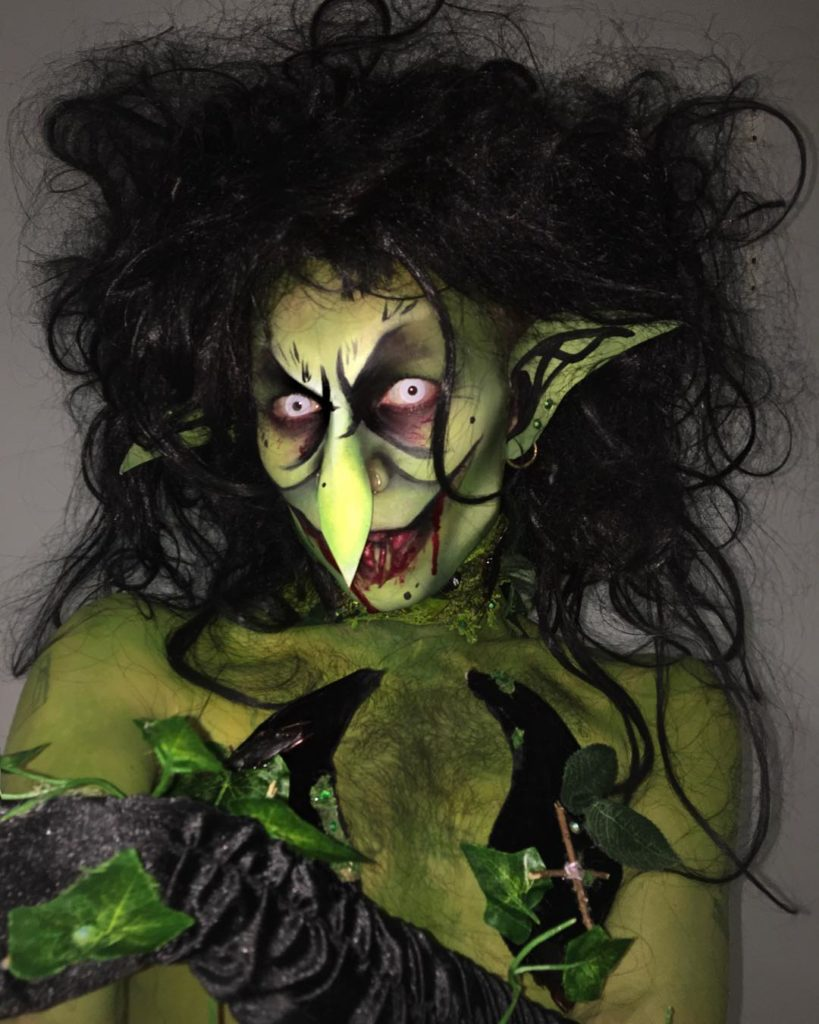 Halloween drag make-up by Charity Kase