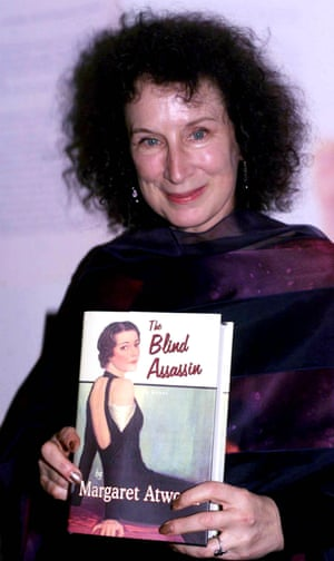 Atwood with her novel The Blind Assassin, which won the Booker prize in 2000