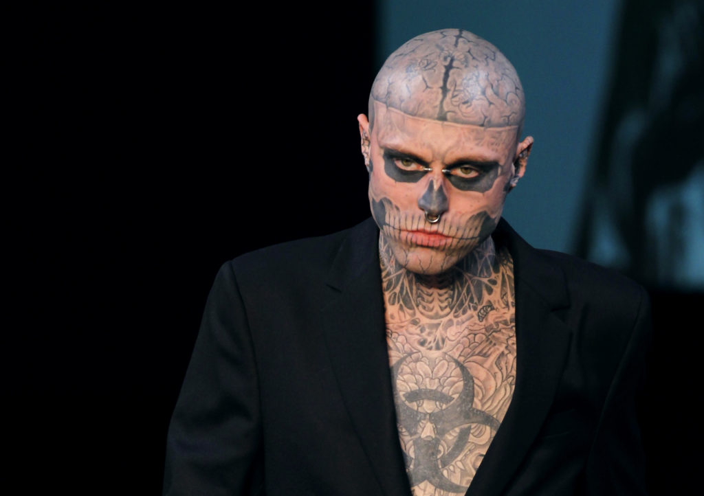 Canadian model Rick Genest aka Zombie boy. (FRANCOIS GUILLOT/AFP via Getty Images)