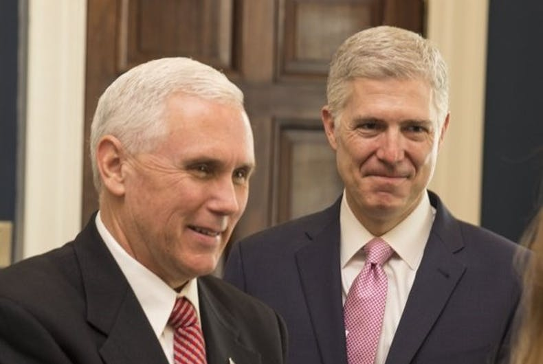 Mike Pence and Neil Gorsuch