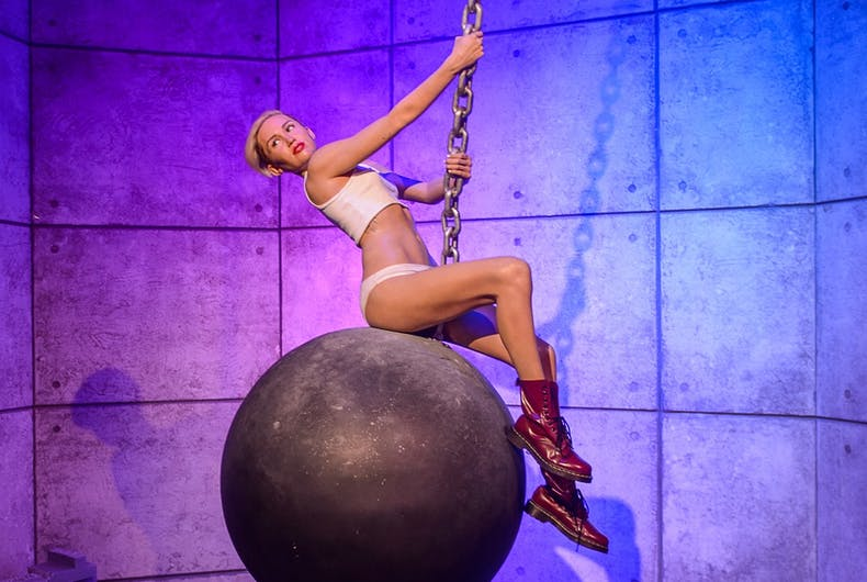 SEP 19, 2017: Miley Cyrus, an American singer, songwriter, and actress, Madame Tussauds wax museum in Las Vegas Nevada