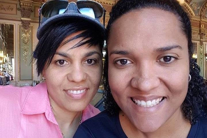 Photo of couple Chantelle Day and Vickie Bodden Bush who are fighting for the right to get married in the Cayman Islands.