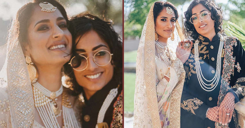 Stunning Photos Show Lesbian Pakistani-Indian Couple's Traditional Wedding