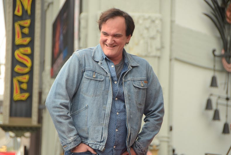 Quentin Tarantino at the Hollywood Walk of Fame Star Ceremony at the Hollywood Blvd on December 21, 2015 in Los Angeles, CA