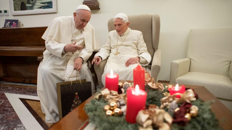 Pope Francis and Pope Benedict