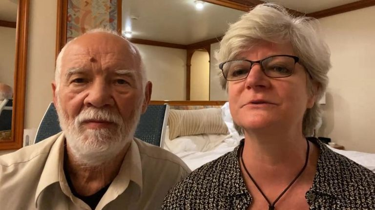 US couple in quarantine on cruise chip in Japan