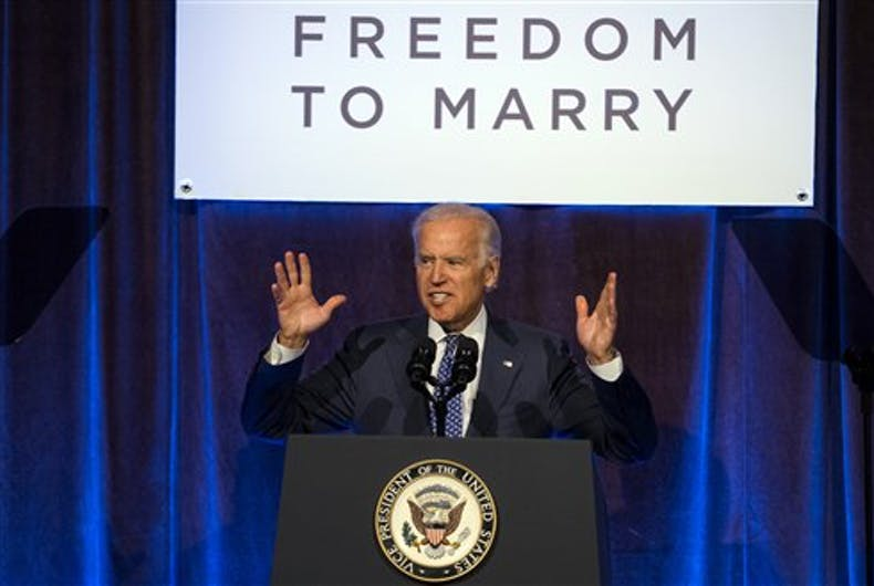 Joe Biden releases his LGBTQ policy plan just in time to steal support from Bernie