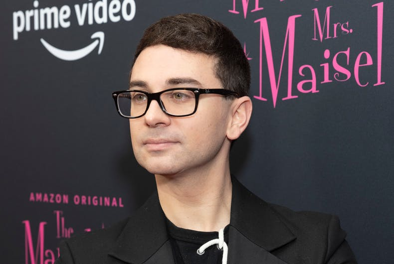 New York, NY - December 3, 2019: Christian Siriano attends The Marvelous Mrs. Maisel season 3 TV show premiere at MoMA
