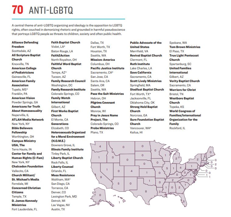 White House shame: 70 anti-LGBT hate groups are in operation across the US, the report warns