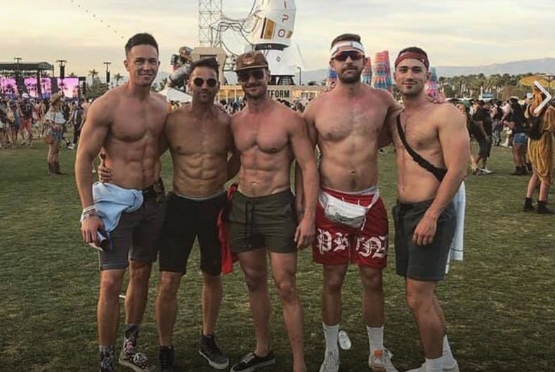 Former Republican Congressman Aaron Schock posed with gay men at Coachella and now the other men are apologizing.