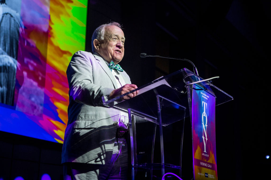 Leslie Jordan speaks at The Actor's Fund 23rd Annual Tony Awards Viewing Gala at Skirball Cultural Center on June 09, 2019 in Los Angeles, California