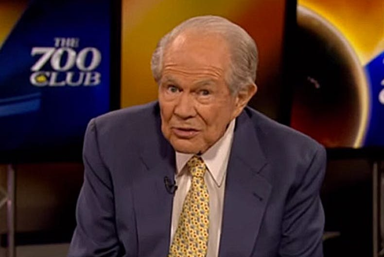 Pat Robertson prophesies (again) that God will destroy America if LGBTQ people get any (more) rights