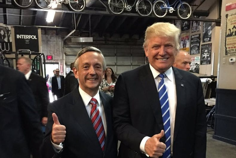 Robert Jeffress and Donald Trump