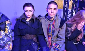 'Audiences saw her grow from a girl into a bold young woman' ... Maisie Williams and Reuben Selby at Paris fashion week 2019.