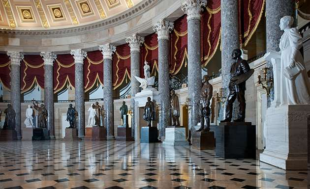 National Statuary Hall in the US Capitol building.