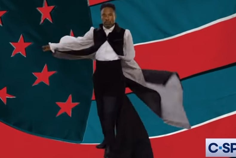 Billy Porter performing at the Convention
