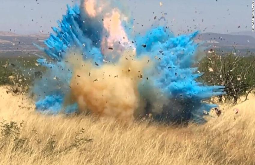 Footage from the gender reveal party that caused a massive wildfire