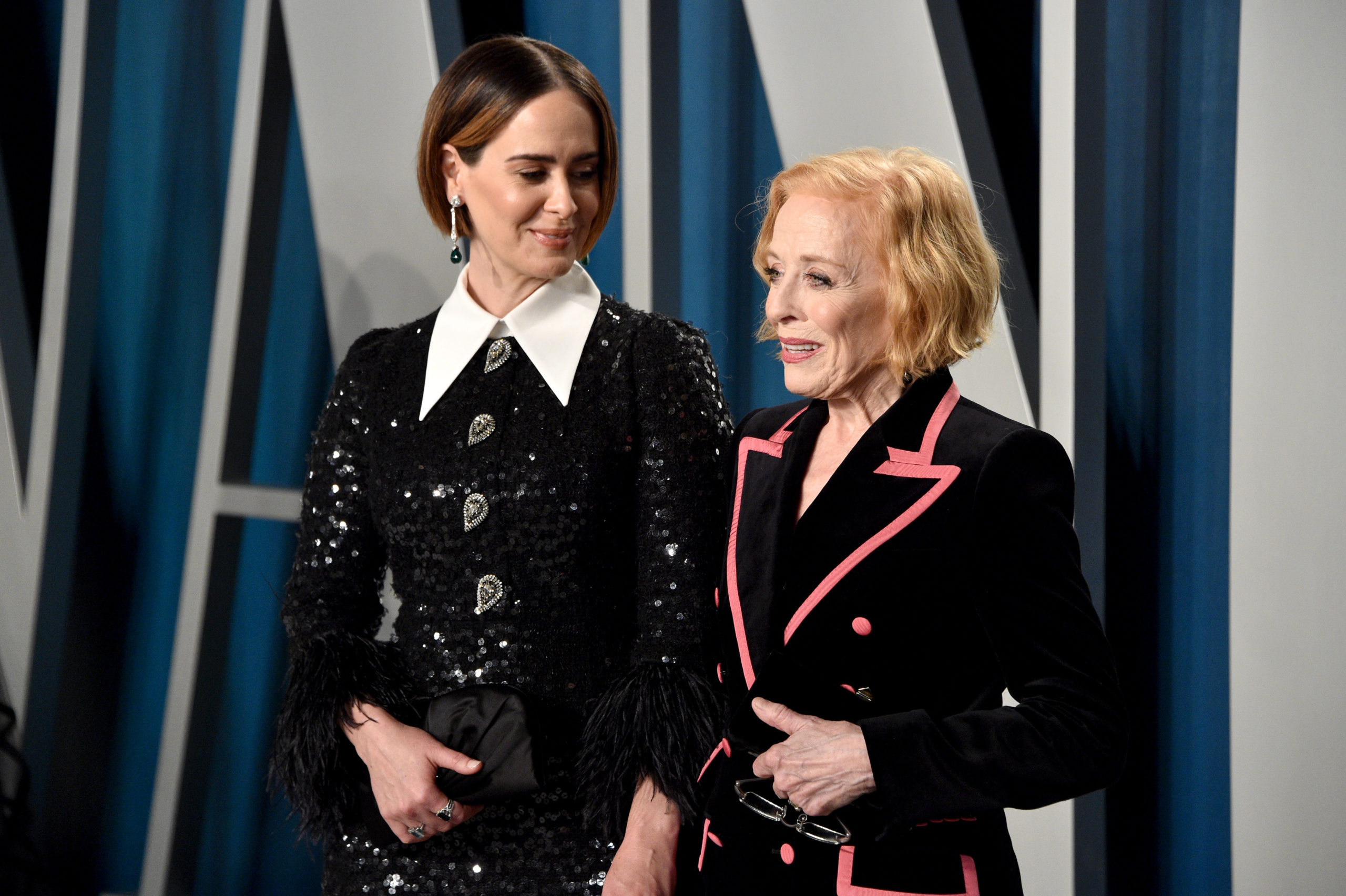 Sarah Paulson and Holland Taylor attends the 2020 Vanity Fair Oscar Party