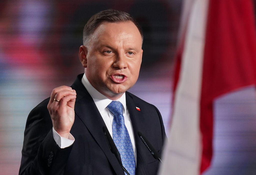 Polish President and member of the right-wing Law and Justice (PiS) party, Andrzej Duda. (Sean Gallup/Getty Images)