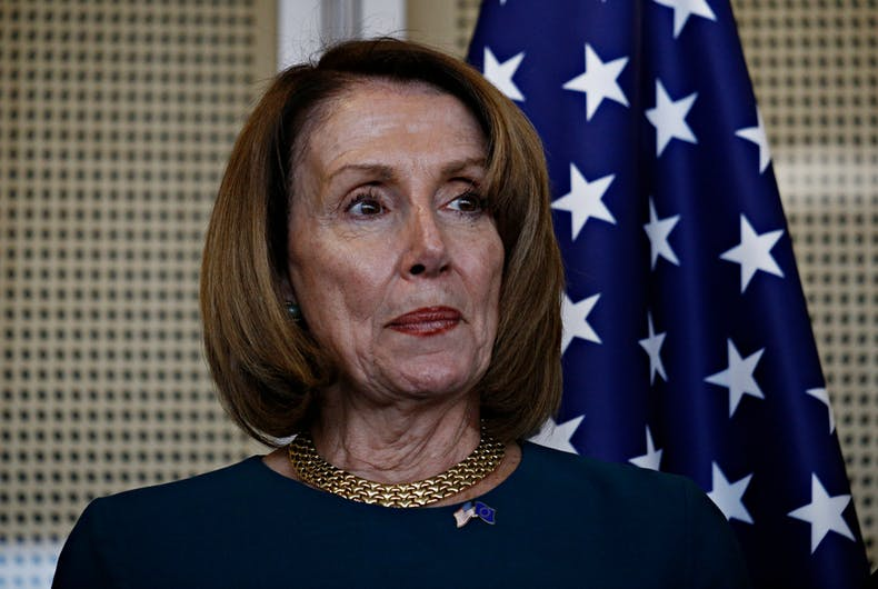 Speaker of the United States House of Representatives Nancy Pelosi
