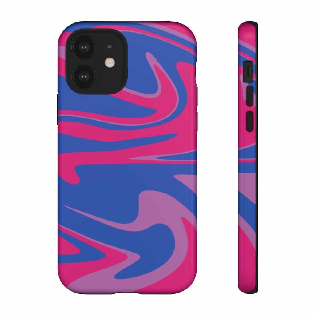 The Retro Bisexual Flag Phone Case For Apple & Samsung. (PinkNews)