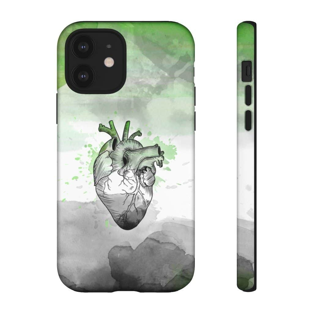 The Aromantic Proud At Heart Phone Case For Apple & Samsung. (PinkNews)