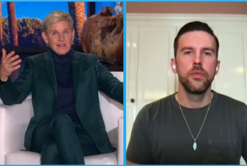 """<div>Ellen talks to country music star T.J. Osborne about how coming out is """"awkward & uncomfortable""""</div>"""