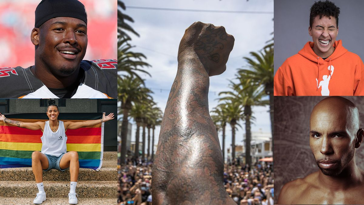Ryan Russell, Layshia Clarendon, Jeremy Sonkin and Natasha Cloud are all Black LGBTQ sports heroes.
