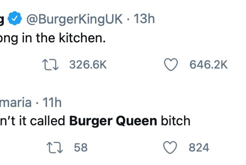 Burger King UK's awkward tweet on International Women's Day
