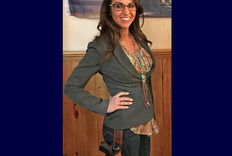 Rep. Lauren Boebert, just hanging out at her restaurant with a gun, like a normal person