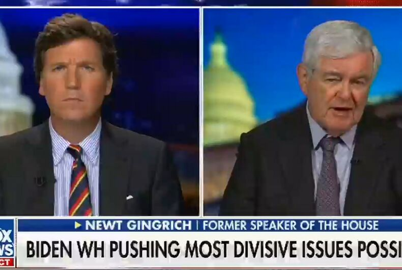 Tucker Carlson and Newt Gingrich