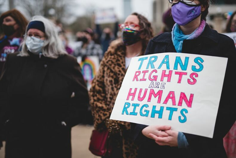 March 18 2021 protest of Arkansas's trans youth health care ban